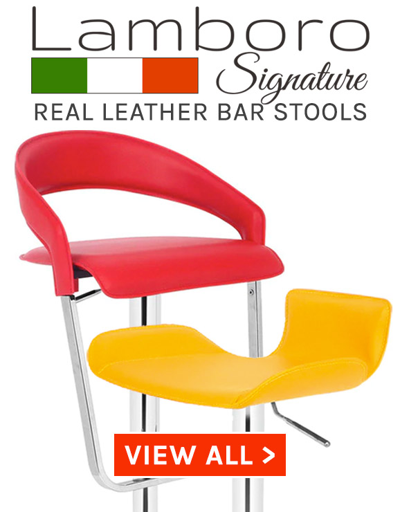 Signature Real Leather Bar Stools